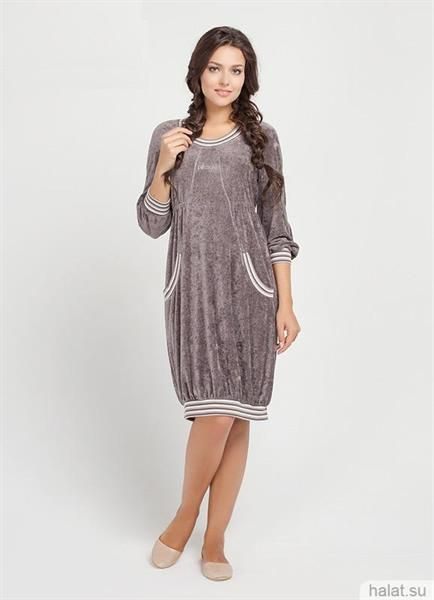 Домашняя женская одежда платье из хлопка