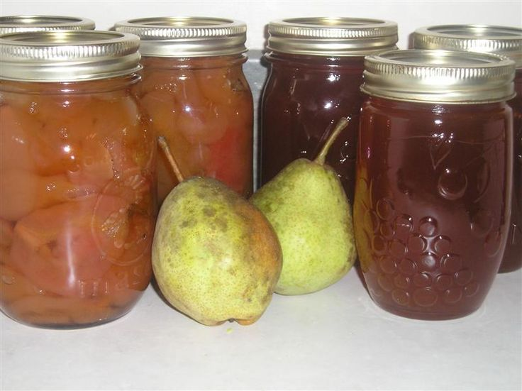 My absolute FAVORITE recipe for canning pear preserves! Also includes a recipe for pear glaze using the leftover cores and peels.