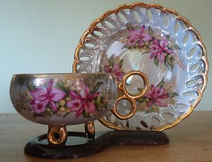 Vintage.. Gorgeous!. Tea Cup & Saucer by Royal Halsey SOLD!!