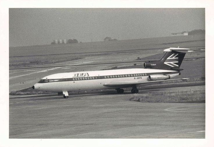 BEA Trident 1E G-ARPA at Brussels Airport -  6x4 Print