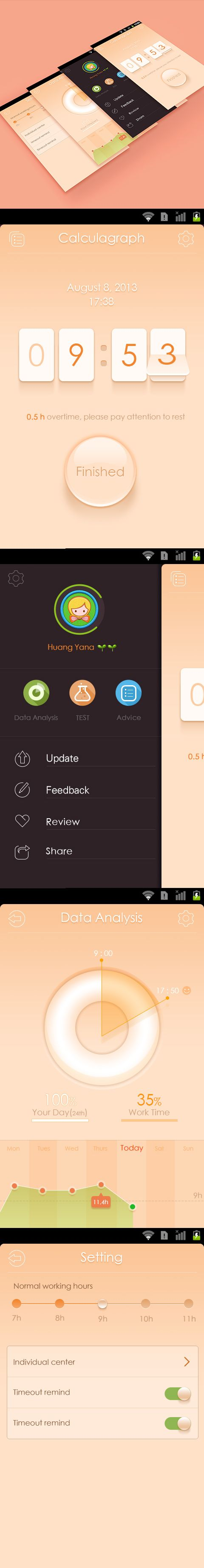 Sweet Interface by huangyana, via Dribbble