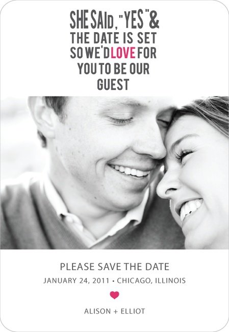 Love It:Begonia  Save the Dates