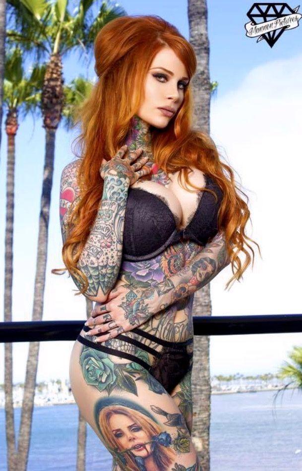 tatueringar cam tjejer rött hår