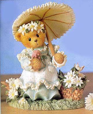 "Kimberly - Summertime figurine, "" Summer Brings A Season Of Warmth"".  I love Cherished Teddies!"