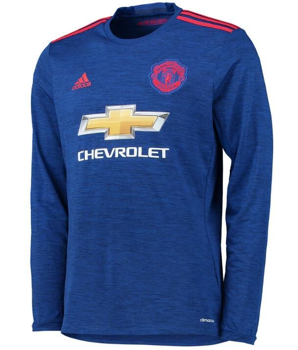 $20.Manchester United 16/17 away long sleeve jersey.Ibrahimovic,Pogba,Rooney,Mkhitaryan soccer shirt.
