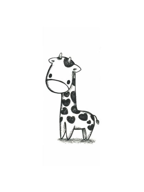 i wanted to get a small giraffe tattoo for each of my kids (whenever i have kids) & this is PERFECT!
