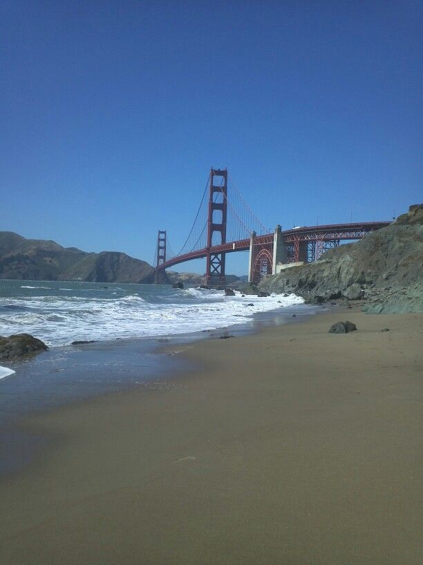 A beautiful sunny day at SF beach