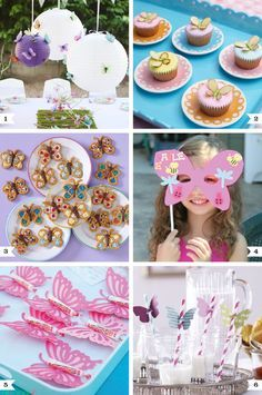 DIY butterfly party ideas for food, decor, activities, and party favors!