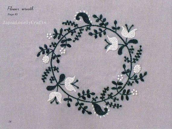 2 Colors Embroidery Pattern & Small Zakka by JapanLovelyCrafts