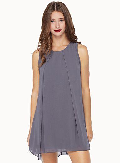 La robe voile plis drapés | Simons