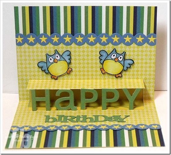 Celebrating Your Birthday! created by Frances Byrne using PTI Movers & Shakers Poppers Die Collection.
