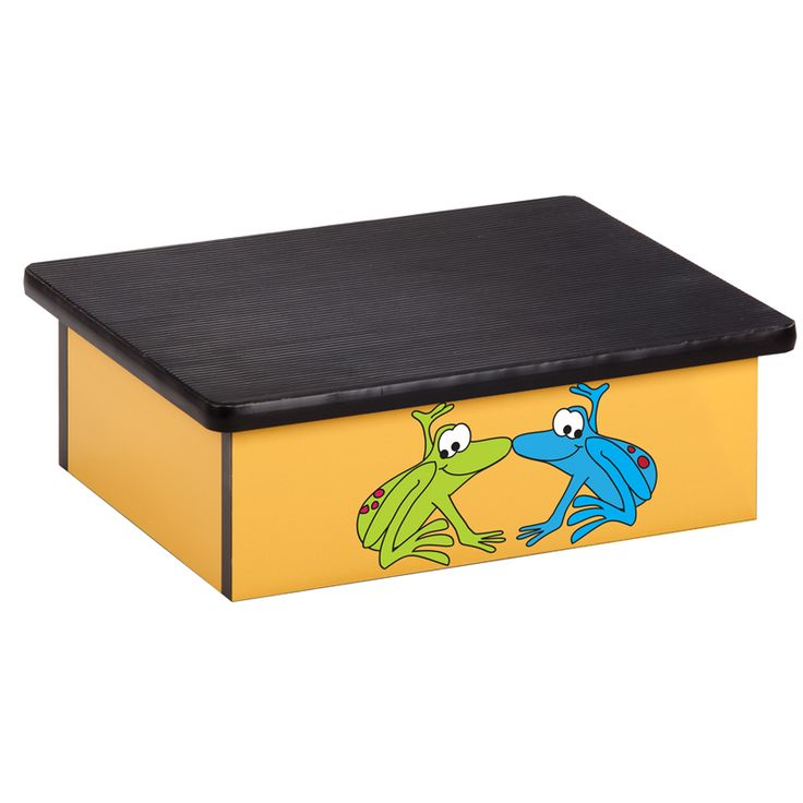 Yellow Rainforest Frog Pediatric Step Stool, 10 RFY By Clinton Industries |  BizChair.