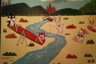 Βάλε χρώμα: Ζωγραφιά σε παιδικό δωμάτιο με θέμα τα Baby Looney...