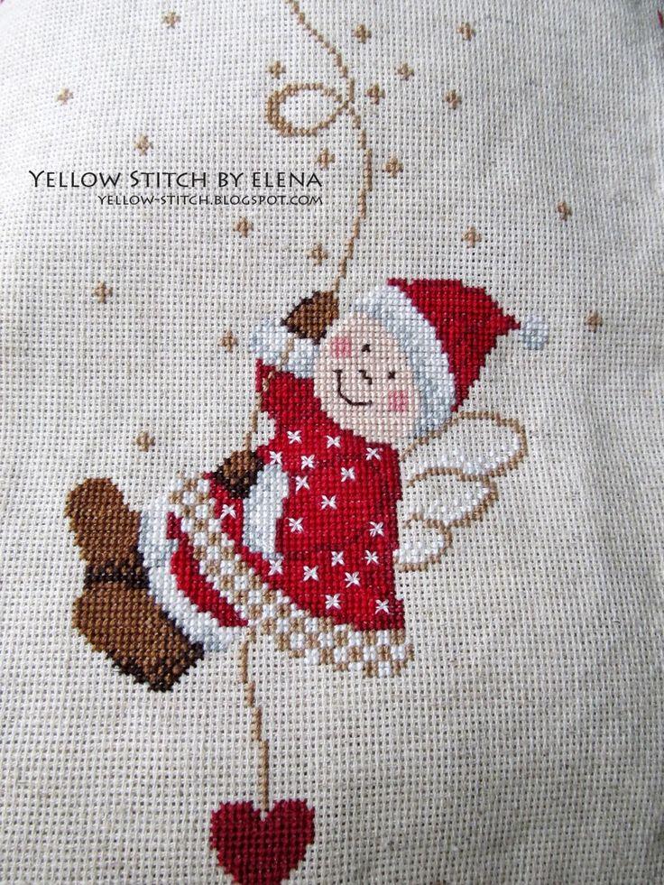 Yellow Stitch by Elena: Новогодний Ангел - у меня теперь есть свой собственный