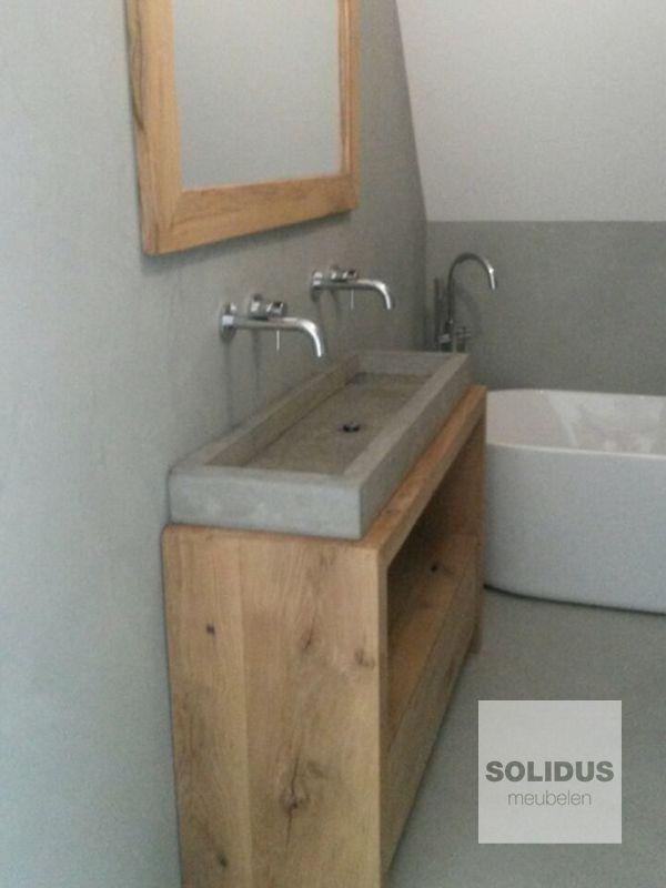32 best badkamermeubel van hout en beton images on pinterest ... - Weie Badmbel