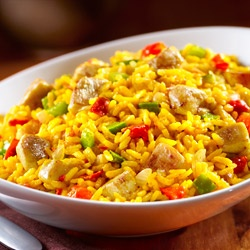 Cheesy Chicken and Yellow Rice - featured on Food2Fork  #food2fork #rice #dinner #recipe
