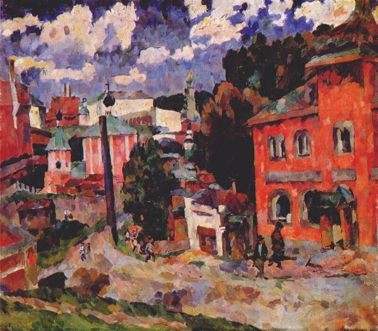Aristarkh Lentulov (Russian, 1882-1943) - Sergiev Posad, 1922