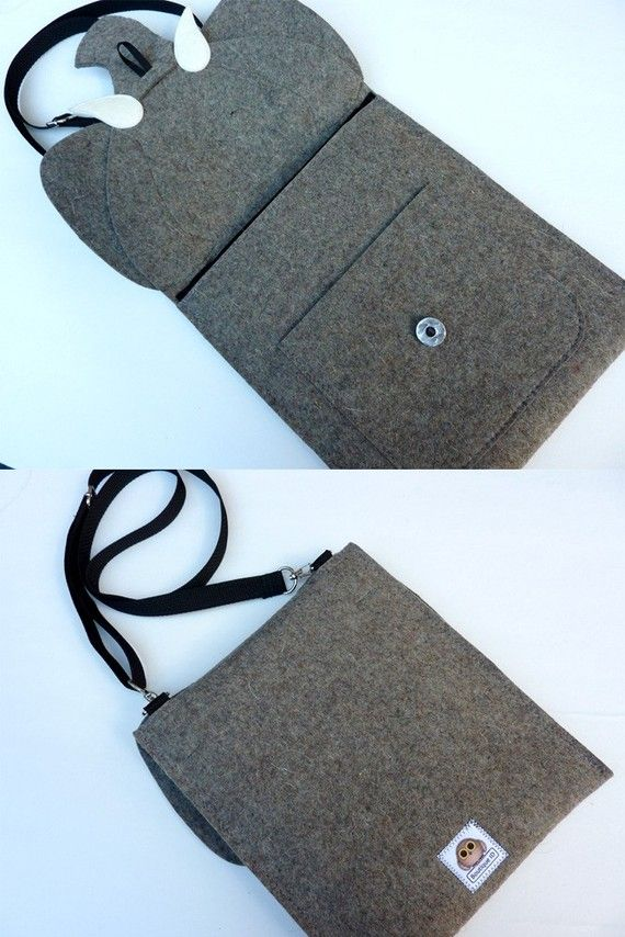 *** This elephant felt case fits the iPad Pro 12.9 and 9.7 inch .***  This elephant iPad Pro case is made with 100% wool design felt. The flap is attached with a metal button. Details are made with 100% wool felt. The sparkles in the eyes are added by Swarovski rhinestones. There is a useful pocket at the front of the sleeve to carry your small accessories. The bag is lined with black poly-cotton.  Design wool felt is an eco-friendly, sustainable and renewable material and it is perfect to…