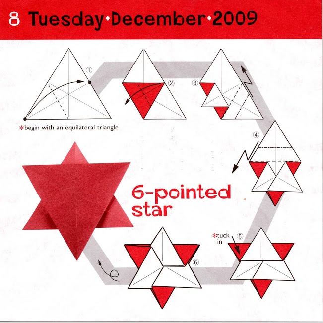 6 point star origami pinterest for How to make a big paper star