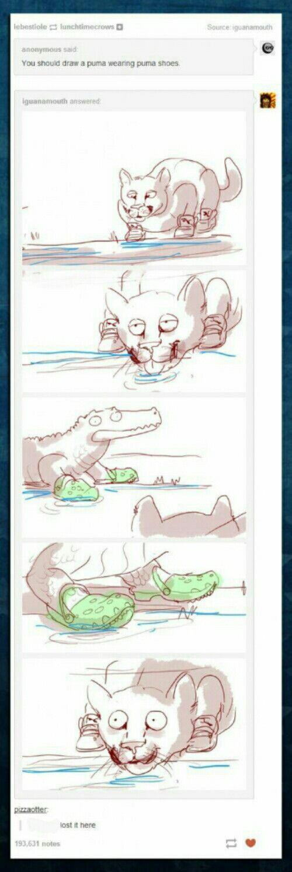 Puma and Crocs