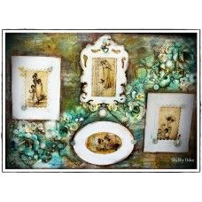 Mixed Media Canvas - Romantic Frames