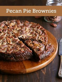 This hybrid dessert is the perfect blend of pecan pie and brownies! We used Diamond Pecans for this new holiday favorite!