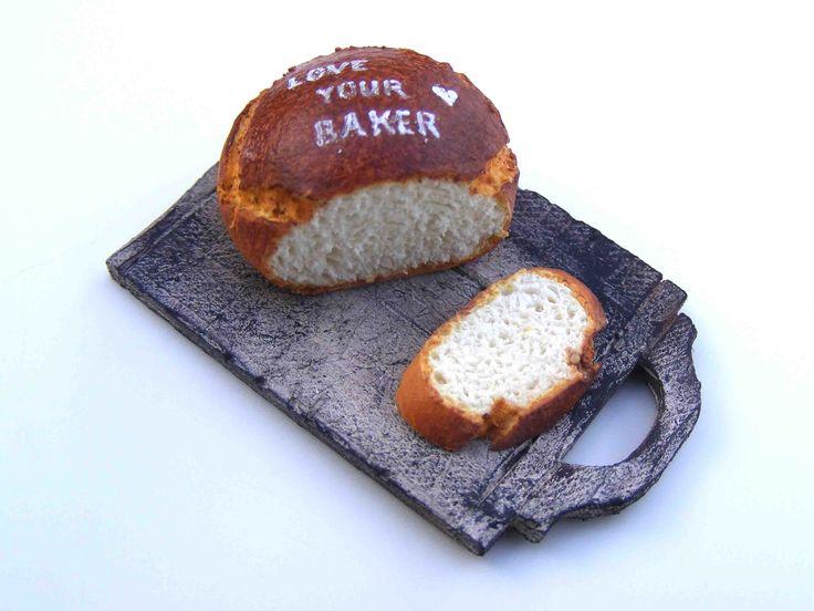 stenciled bread