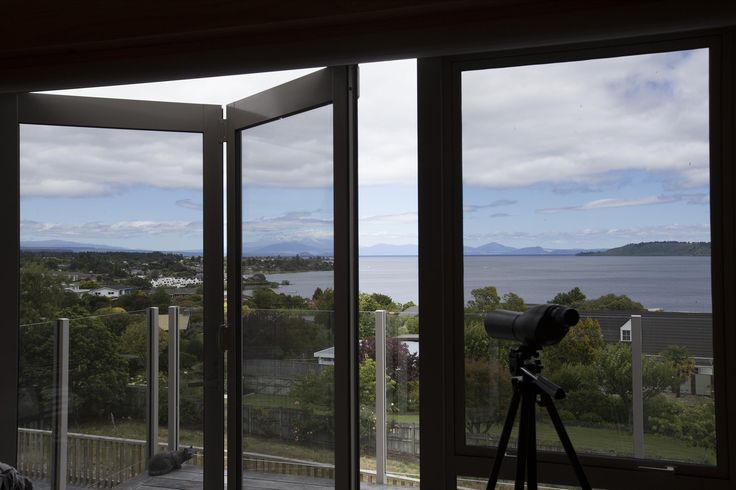 Jenny says she is snug and comfortable inside her Taupo home no matter what is happening with the weather outside.