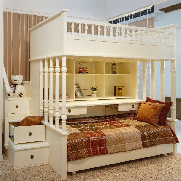Двухъярусная кровать из дерева в классическом стиле Oxford
