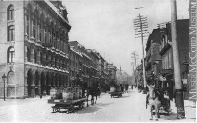 McGill Street, Montreal, QC, about 1869