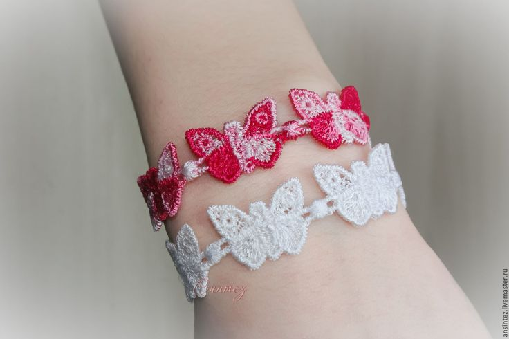 Купить вышитые браслеты Ажурные Мечты кружево вышивка FSL - вышитый браслет, детская бижутерия