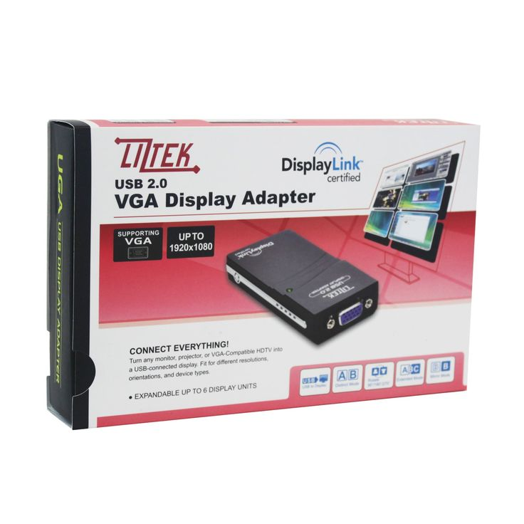 #Amazon #Liztek #USB to VGA #Video #GraphicsAdapter Card for #Multiple Displays up to 1920x1080 / 1600x1200 Each (DisplayLink DL-165 Chip - Supports Windows 8.1, 8, 7, and XP)