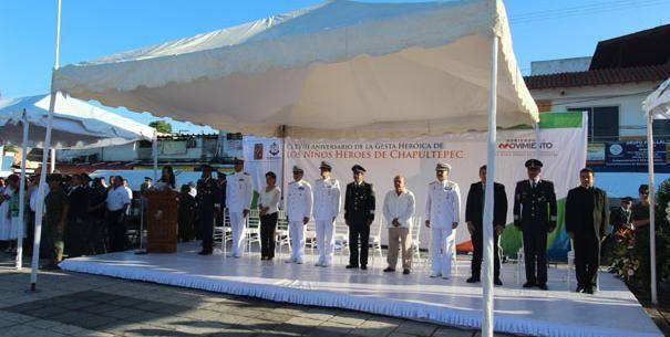 Conmemoran el aniversario 168 de la Gesta Heroica de los Niños Héroes de Chapultepec
