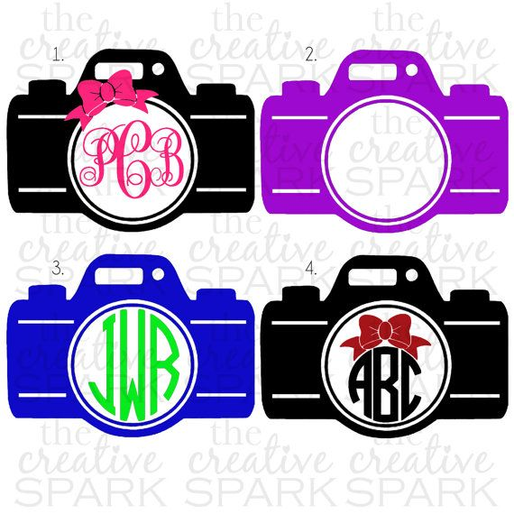 Camera Monogram Decal by TheCreativeSpark2 on Etsy