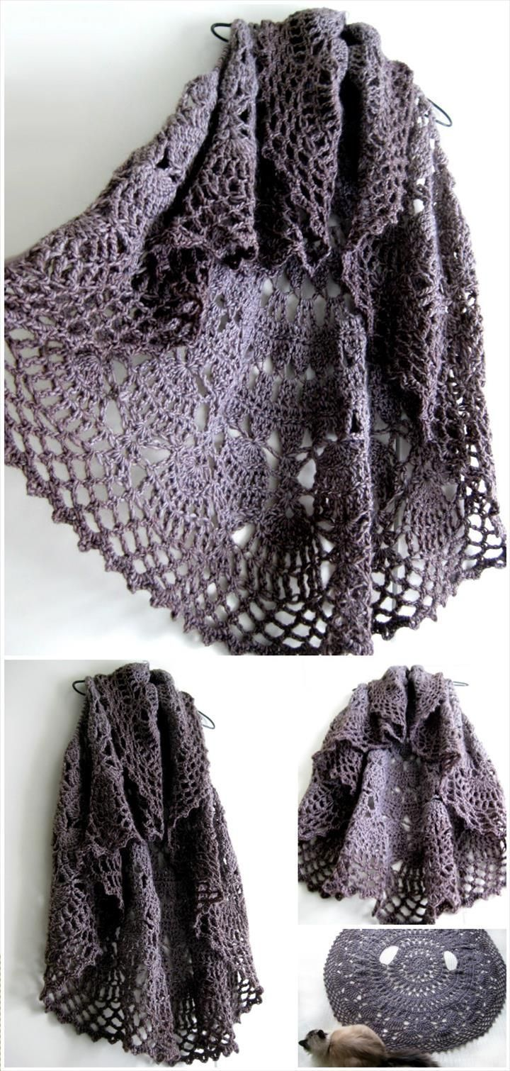12 Free Crochet Patterns for Circular Vest Jacket ...