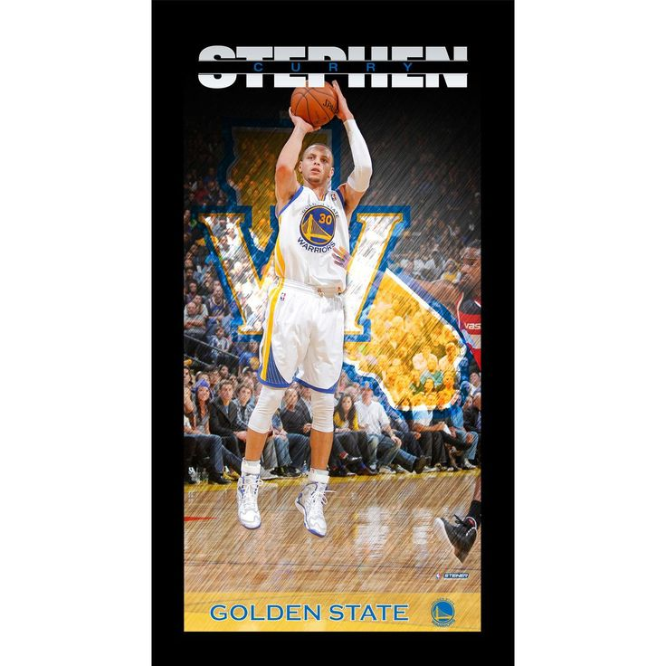 Stephen Curry Golden State Warriors Player Profile Wall Art 9.5x19 Framed Photo - Celebrate one of the most exciting players in the League with this Steiner original Framed 10x20 wall art piece. This framed piece is officially licensed by the NBA. It measures 10 x 20 and is ready to hang in any home or office. Gifts > Licensed Gifts > Nba > Golden State Warriors. Weight: 1.00