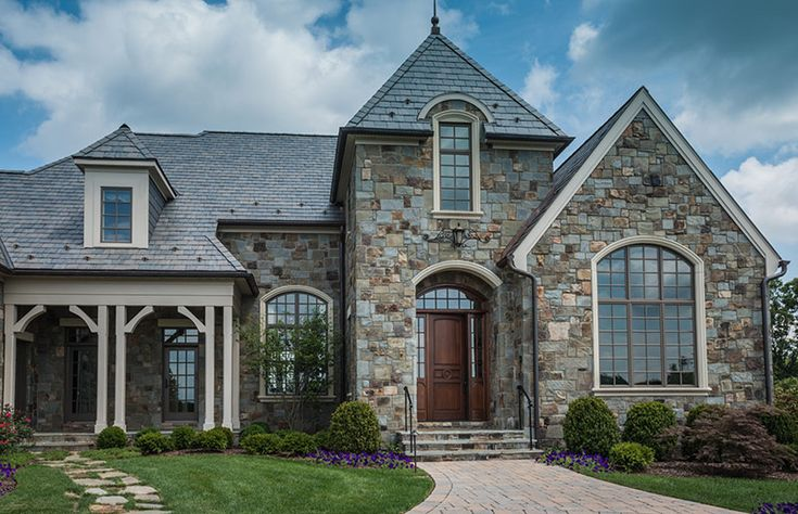 27 best real estate exteriors images on pinterest dream homes dream houses and exterior homes Types of stone for home exterior