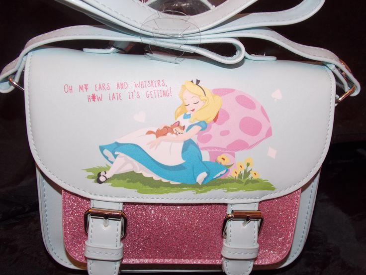 Alice In Wonderland glitter satchel Disney bag primark on sale now at my ebay store karen8karen8