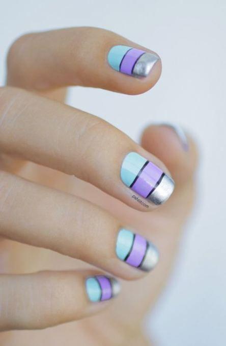 Nails blue silver nailart 48 Best Ideas #nails