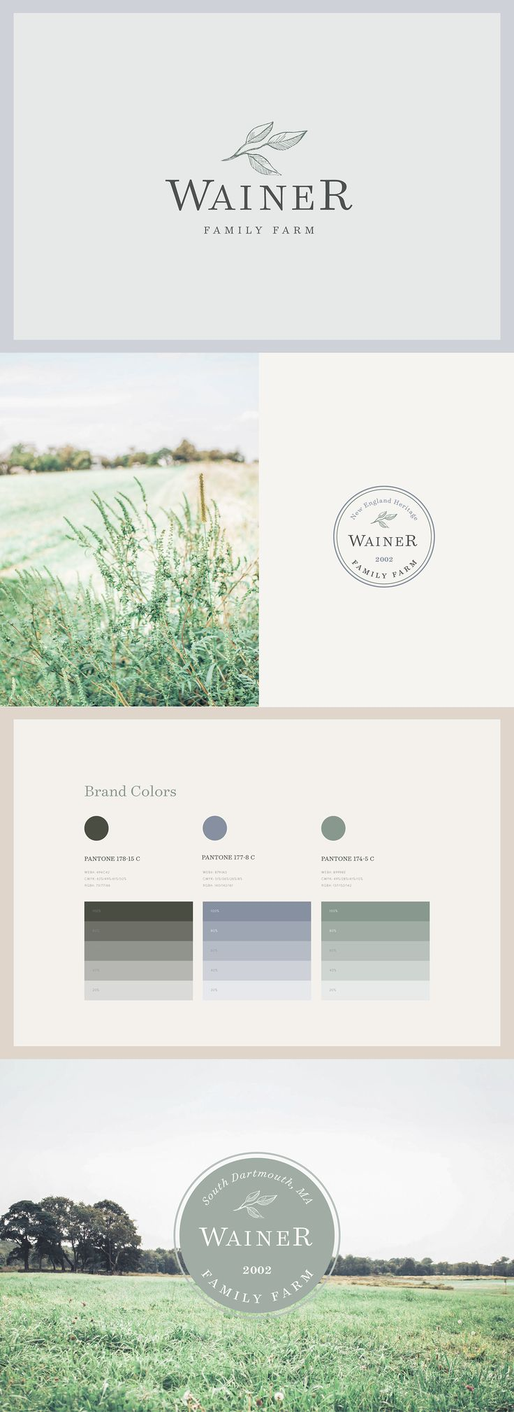 Meg Summerfield Studio | Wainer Family Farm Branding | Heritage New England Logo Design Inspirationen. Benötigst Du ein Logo für Deine Firma oder ein Redesign? Wir helfen Dir weiter. http://www.swisswebwork.ch/