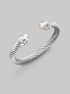 David Yurman Pearl & Diamond Bracelet - Pearl