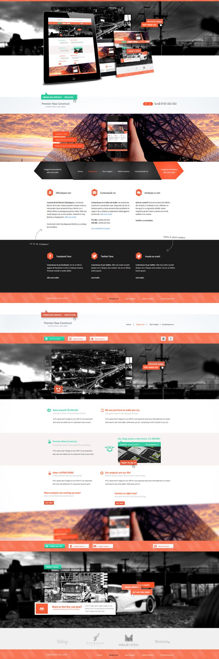 Modern Web Design for Construction Company