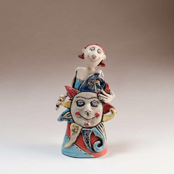 "Ceramic figurine ""Girl Sun"" by KuklaArt on Etsy"