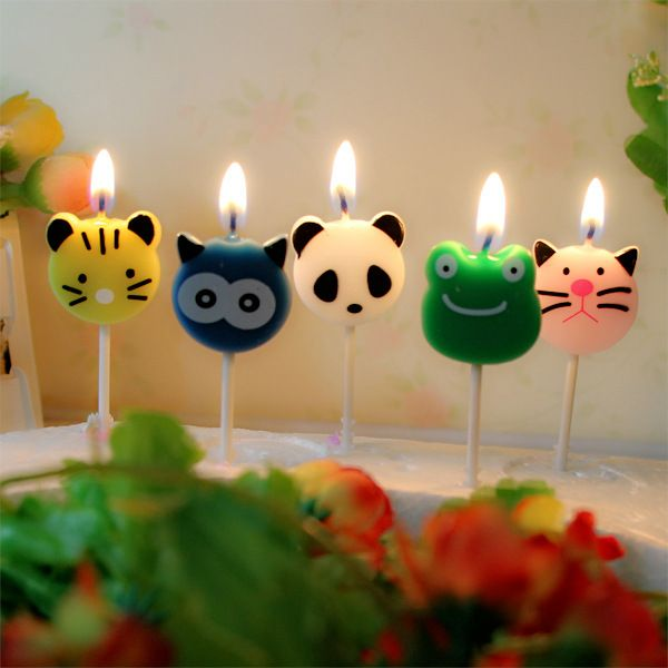 Cheap Candele Decorazione Della Festa di compleanno Animale Pesce Gatto Leone Rana Panda Coniglio Robot Candela, Compro Qualità Candele direttamente da fornitori della Cina:  candela di compleanno forma di Animale mangiafumo insapore decorative candele di cera per la torta di compleanno decora