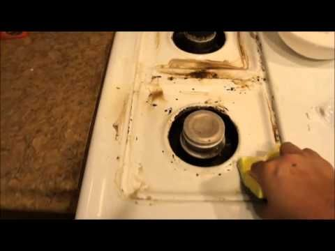 This works amazing!  It works on pans too!  Amazing! How to clean a stove top with HYDROGEN PEROXIDE AND BAKING SODA to remov...