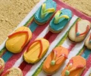 Flip Flop cookies: Food Activities, Cupcakes Projects, So Cute, Flipflop Cookies, Graham Crackers Recipes, Shared Recipes, Flip Flops Cookies, Graham Cracker Recipes, Favorite Recipes