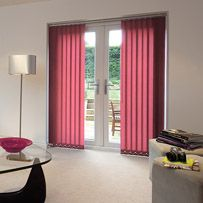 Candy pink Vertical blind from standard fabrics collection
