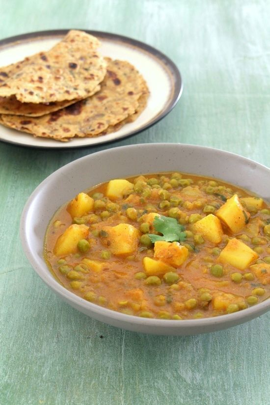 Aloo matar recipe - This is punjabi style of making aloo mutter gravy. This is made in pressure cooker only. Hence this can be done very quickly.