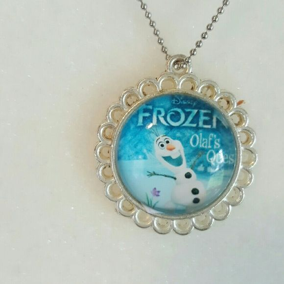 Sterling silver OLAF Frozen necklace Brand new. Sterling silver plated Disney Jewelry Necklaces