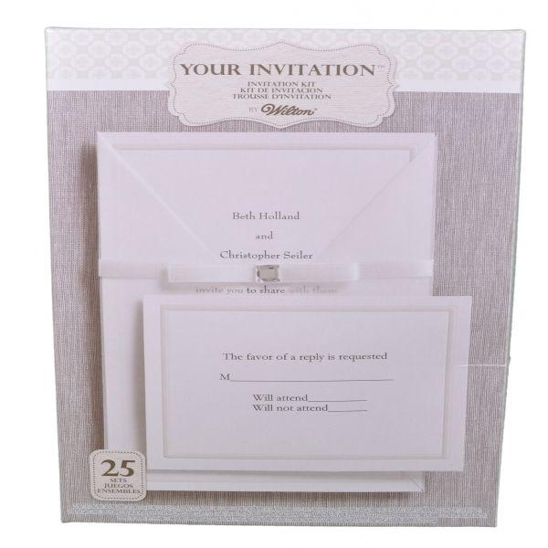 set of 25 wilton wedding princess invitation kit print at home in home garden wedding supplies venue decorations - Wilton Wedding Invitation Kits